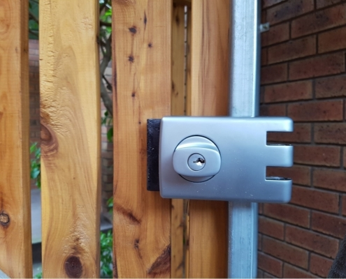 Outside lock and gate system